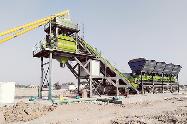 25m3h mobile concrete batching plant small mobile batching plant