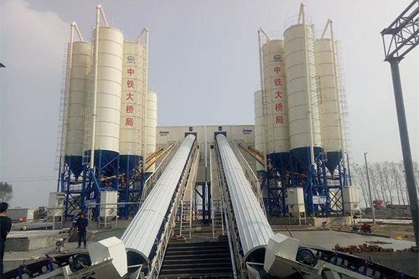 双HZS60混凝土搅拌站