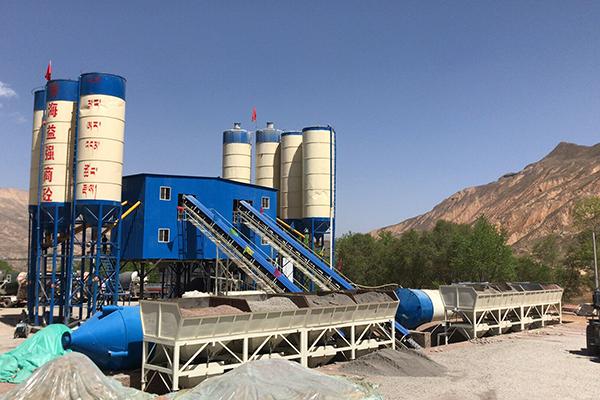 青海混凝土搅拌站设备,大型环保搅拌站