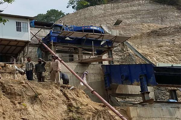 尼泊尔机制砂生产线