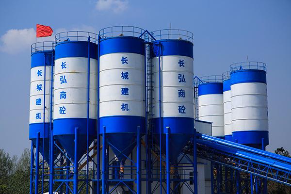 广西混凝土搅拌站设备, 广西混凝土搅拌站价格,郑州长城建机混凝土搅拌站制造商
