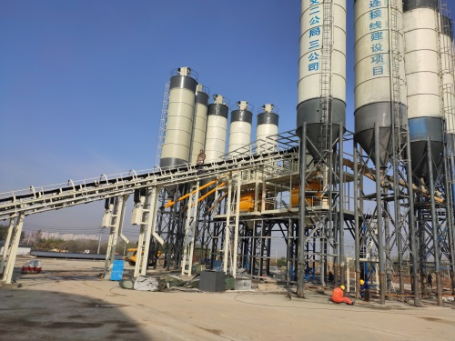 HZS120 concrete batching plant for lanzhou