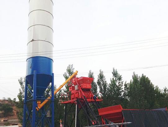 HZS35农村小型混凝土搅拌站