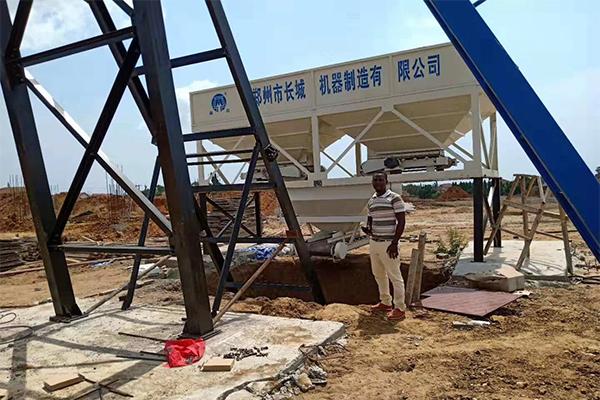 hzs50搅拌站在加纳完成安装