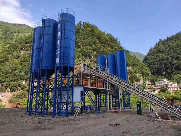 hzs90搅拌站在贵州六盘水