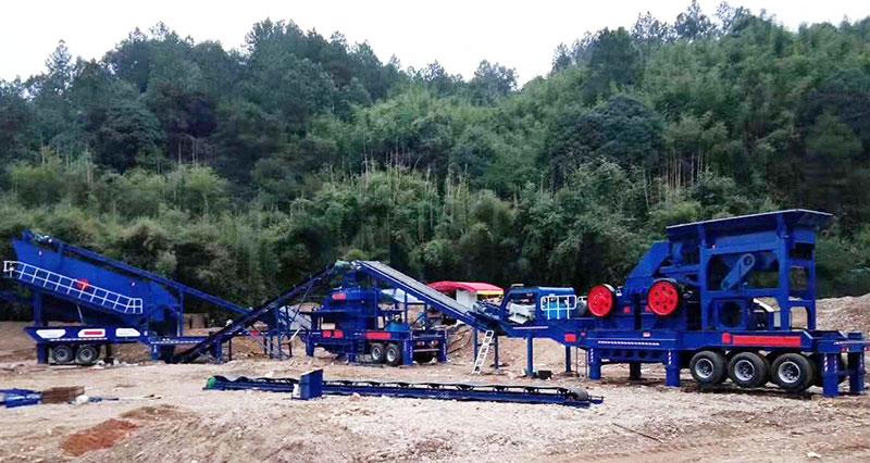 移动砂石骨料生产线