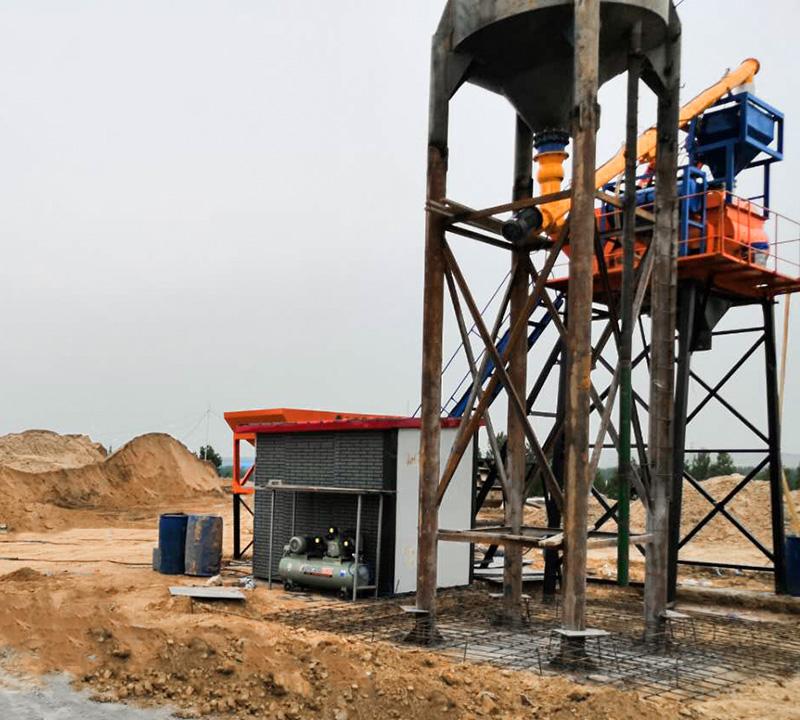 HZS25小型简易混凝土搅拌站